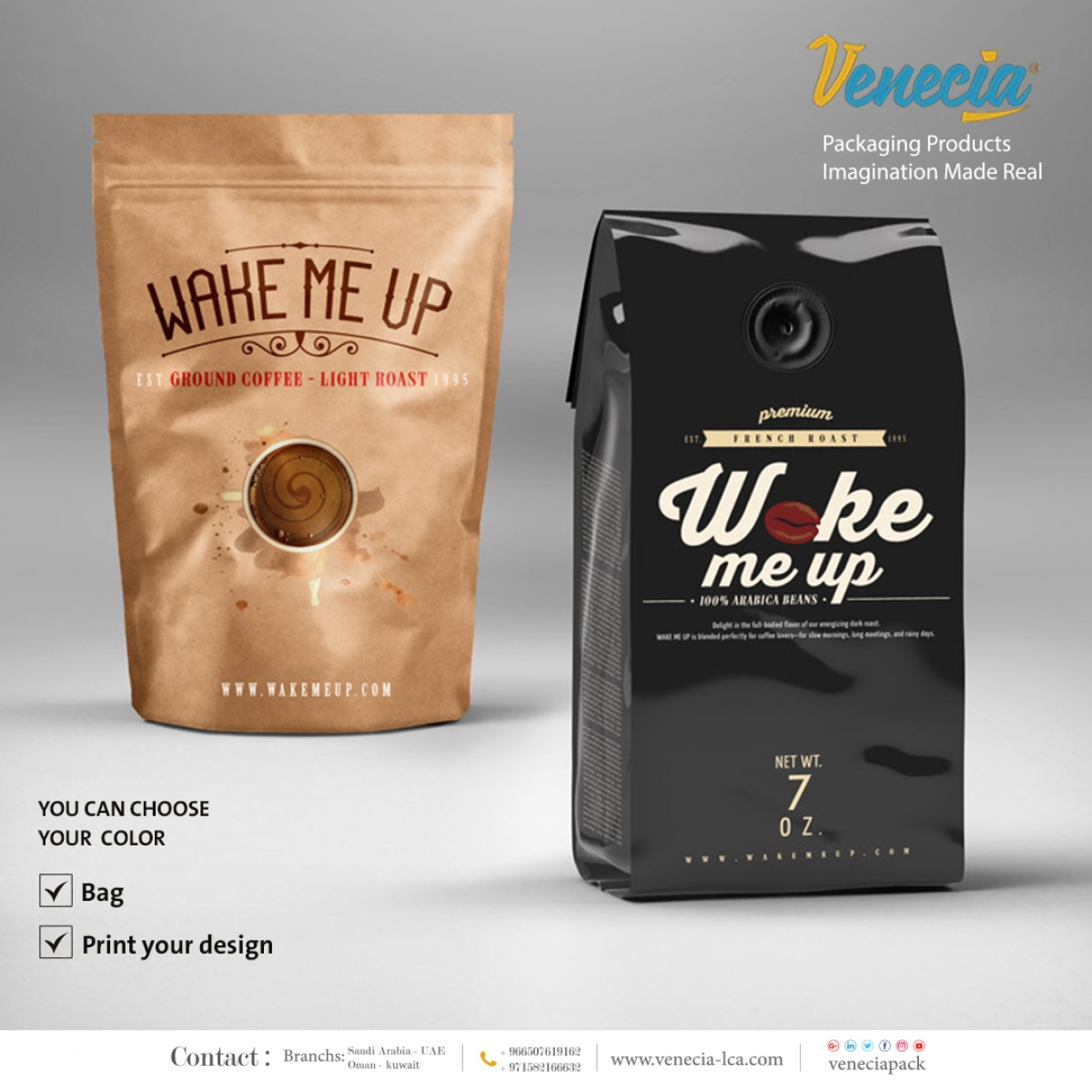 Zipped paper bag/Coffee bag