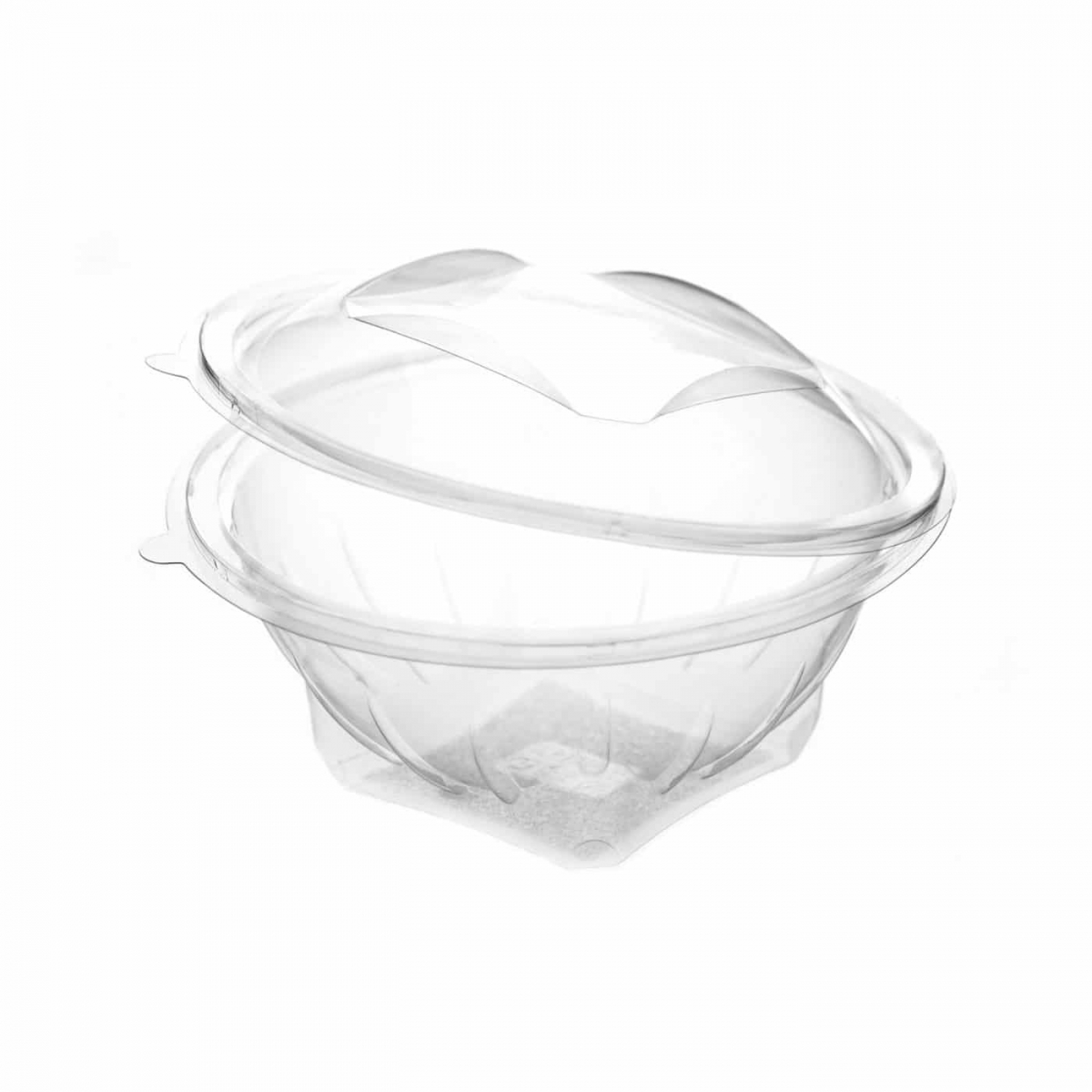 clear oval hinged container107*78*35