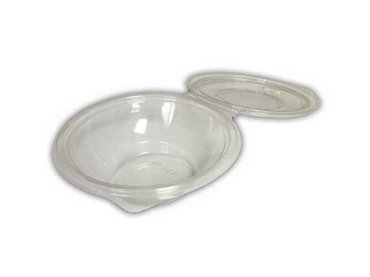 oval hinged salad container 375