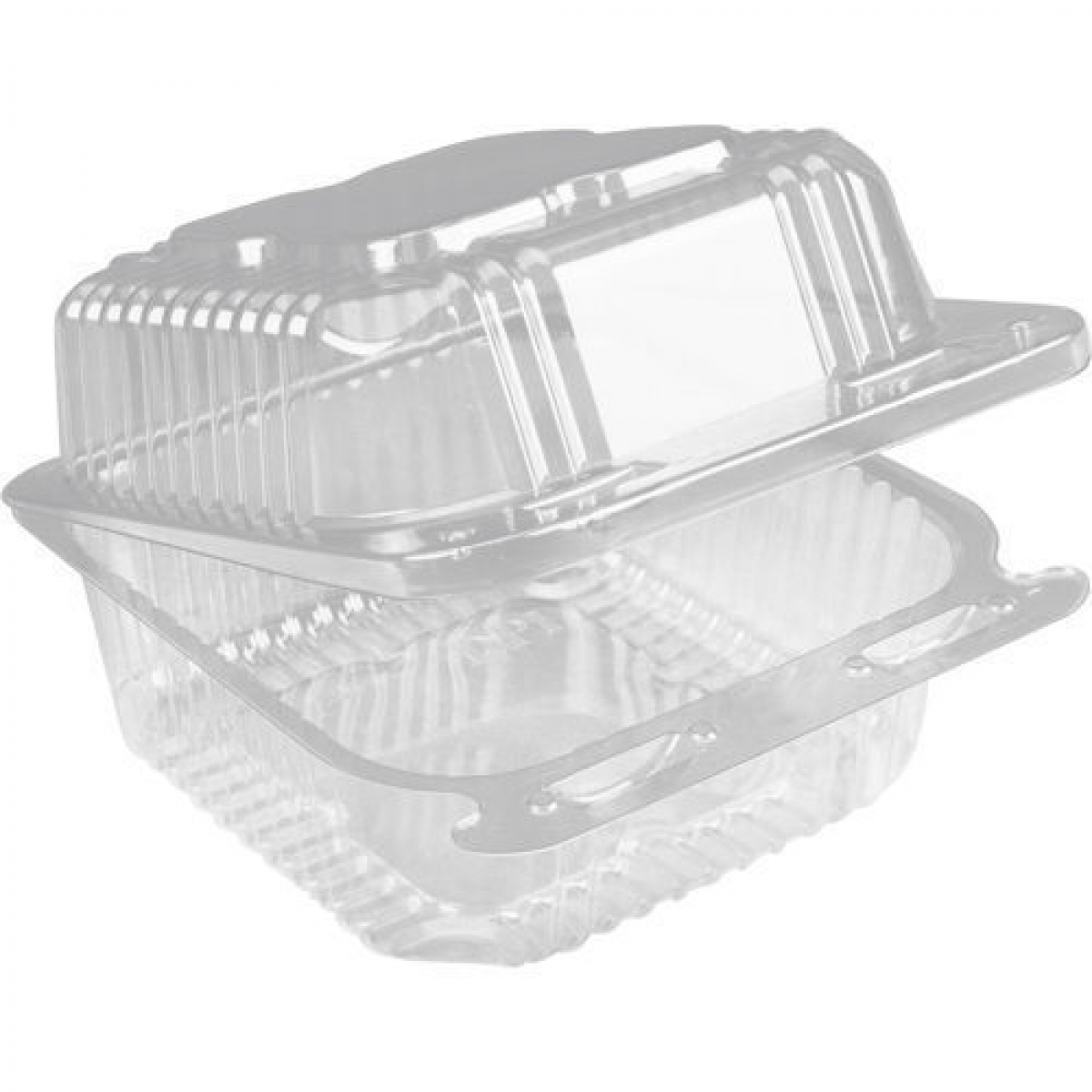 clear hinged punnet container 127*97*75