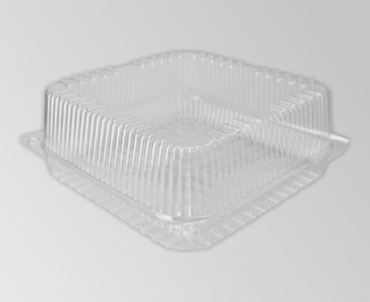 clear hinged square container 150*145*50