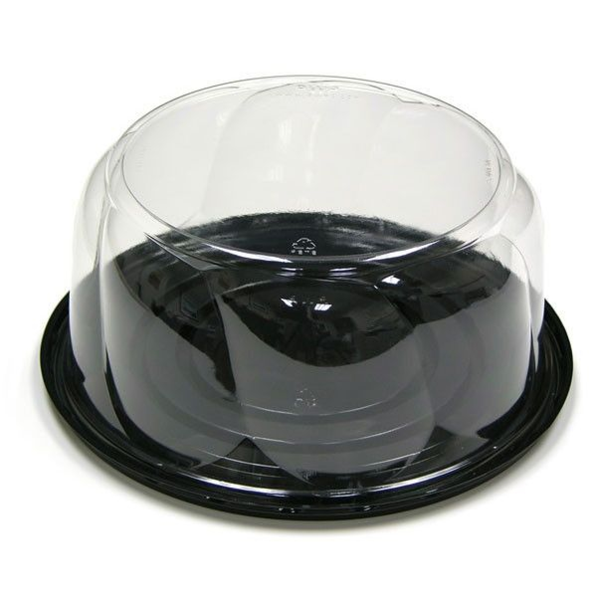 round cake countainer with black bottom 7