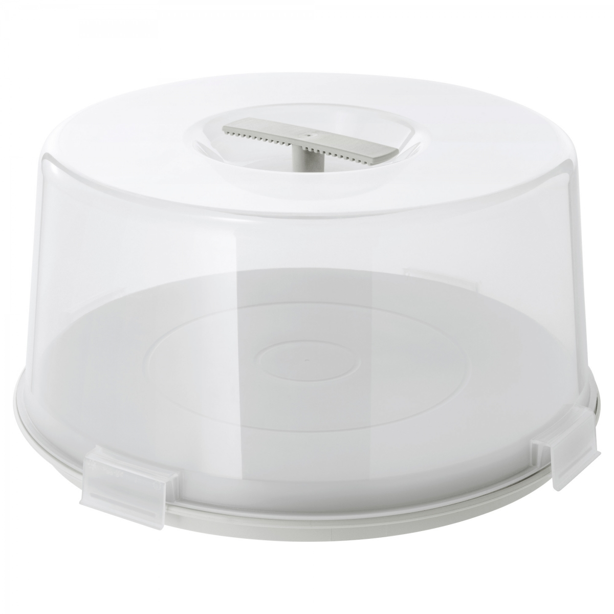round cake containers with transparant base 220mm