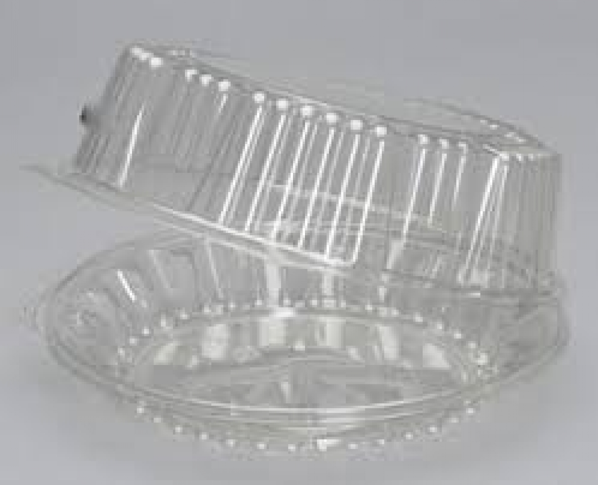 CLEAR OVAL HINGED CONTAINER 1000CC (V514)