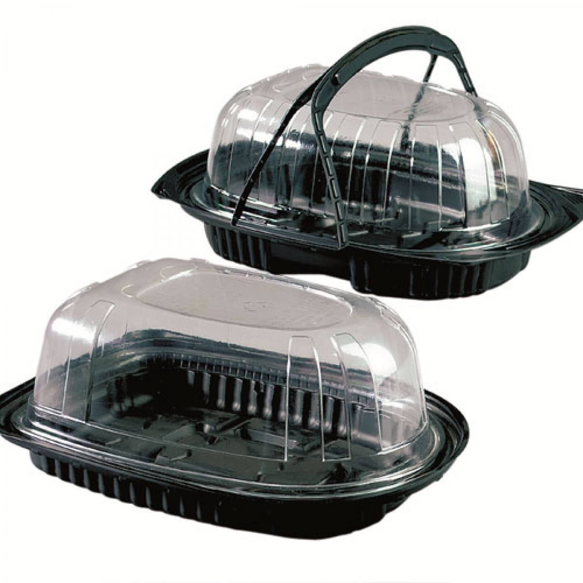 black chicken container with lid 320*225*110