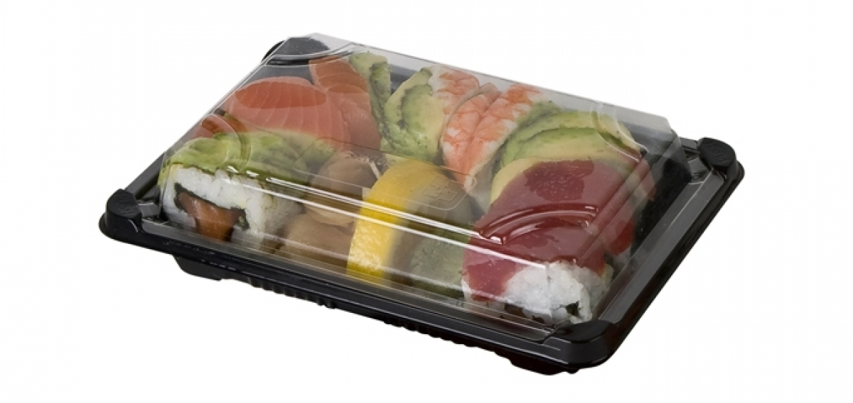 sushi containers with lid 217*90*45