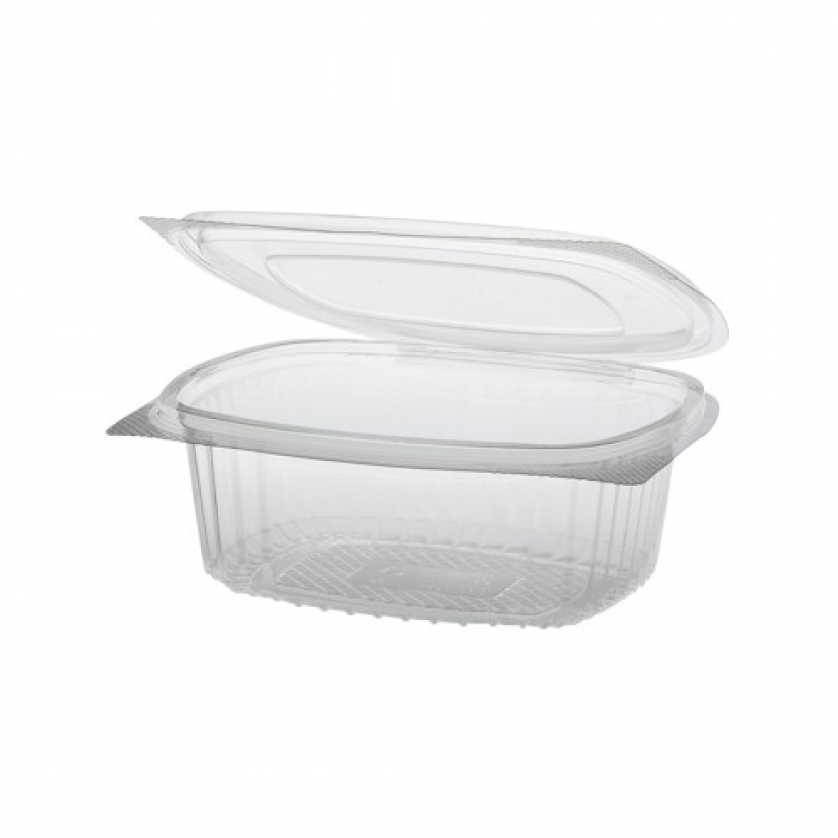 salad containers with hinged lid and fork 250 / 175*115 / 40