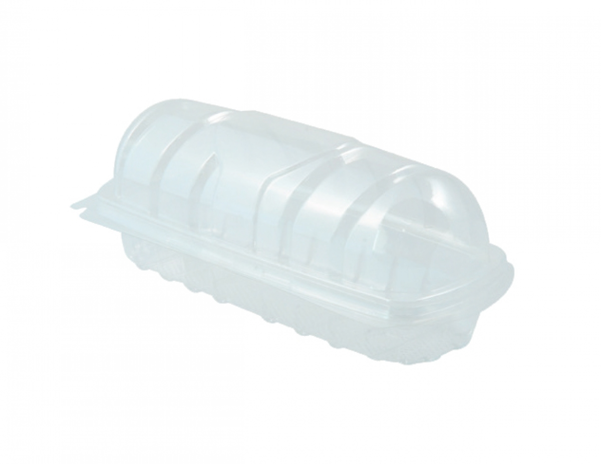 CLEAR HOT DOG BOX 7""