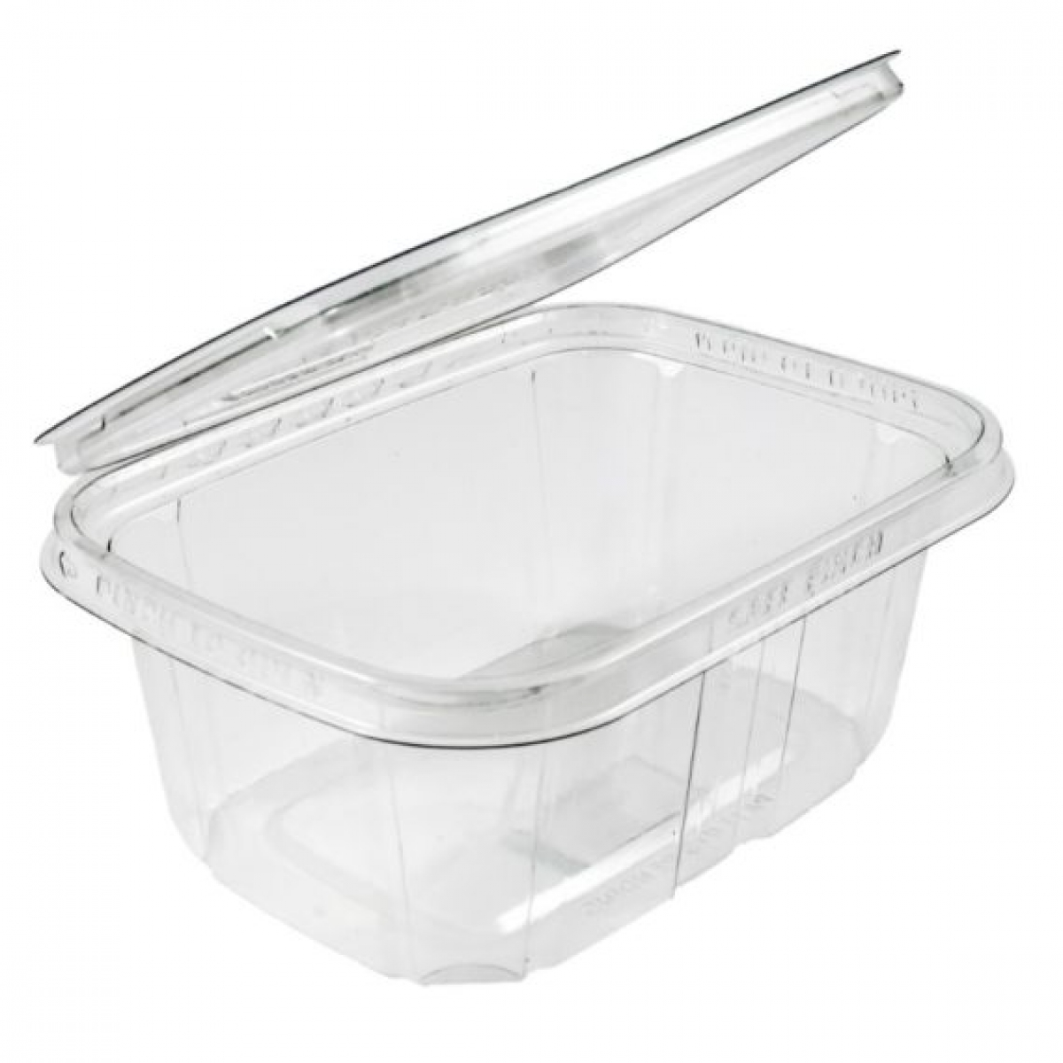 rectangular hinged containers with lid 145*125 / 30 / 250