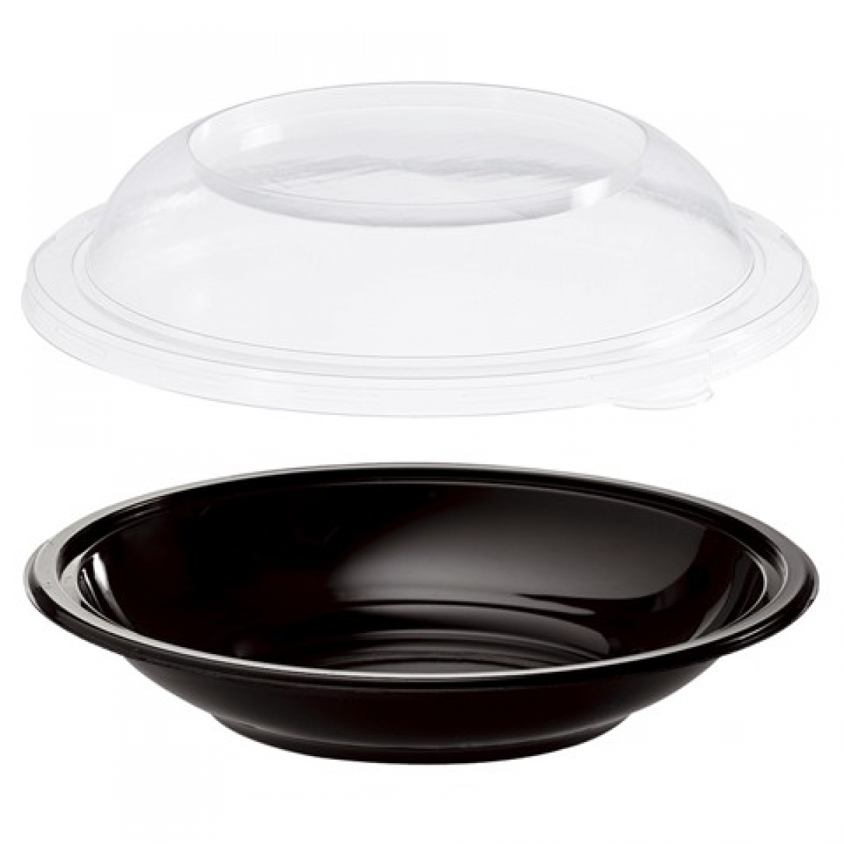 round black bottom container with clear lid 48 / 205*85