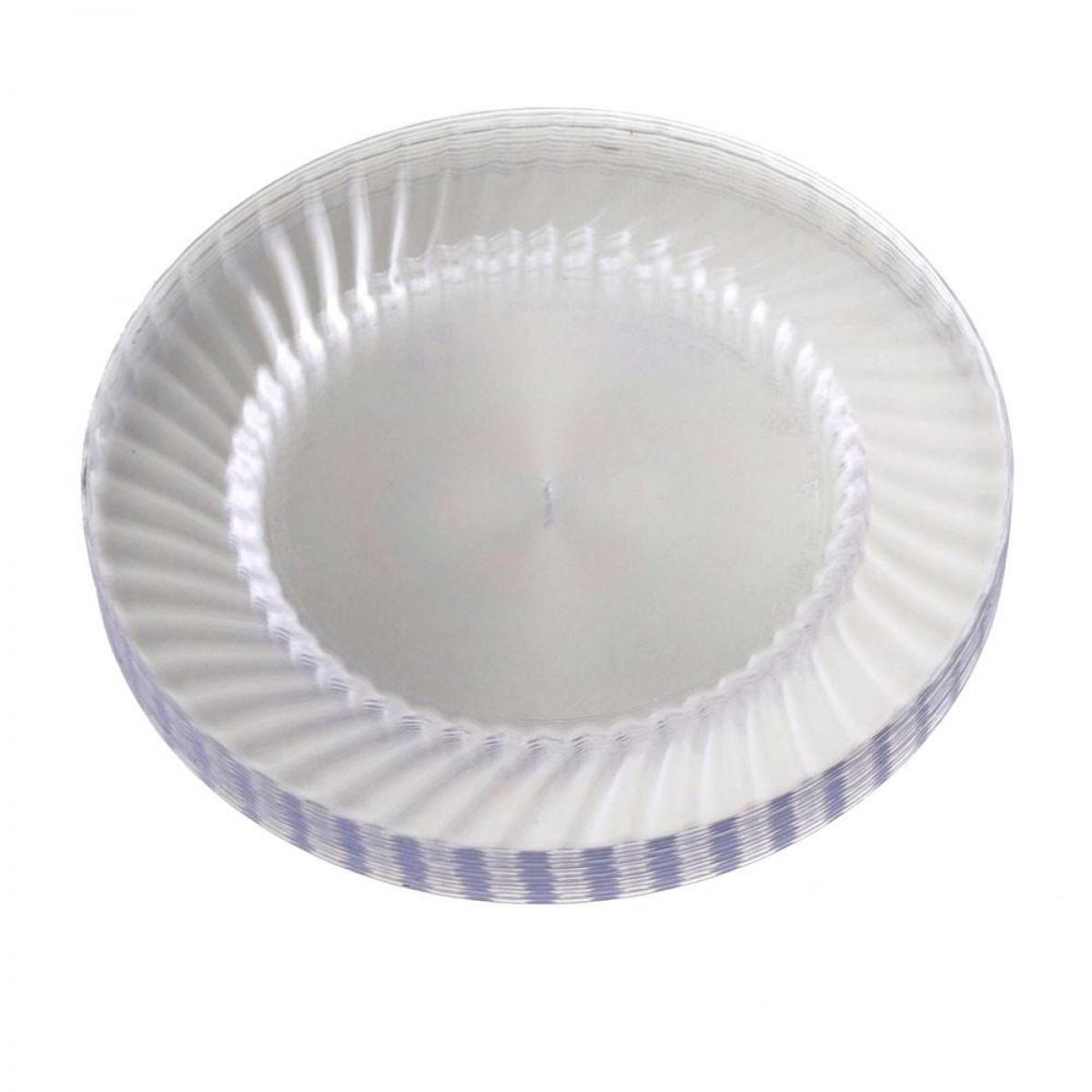 round plastic plate 18