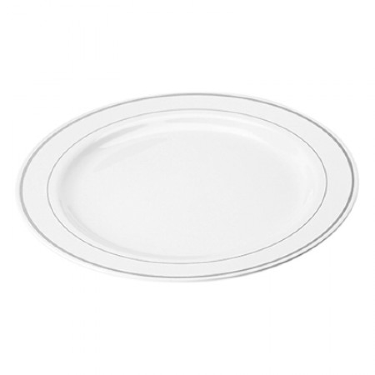 round plate with ring (silver) 19