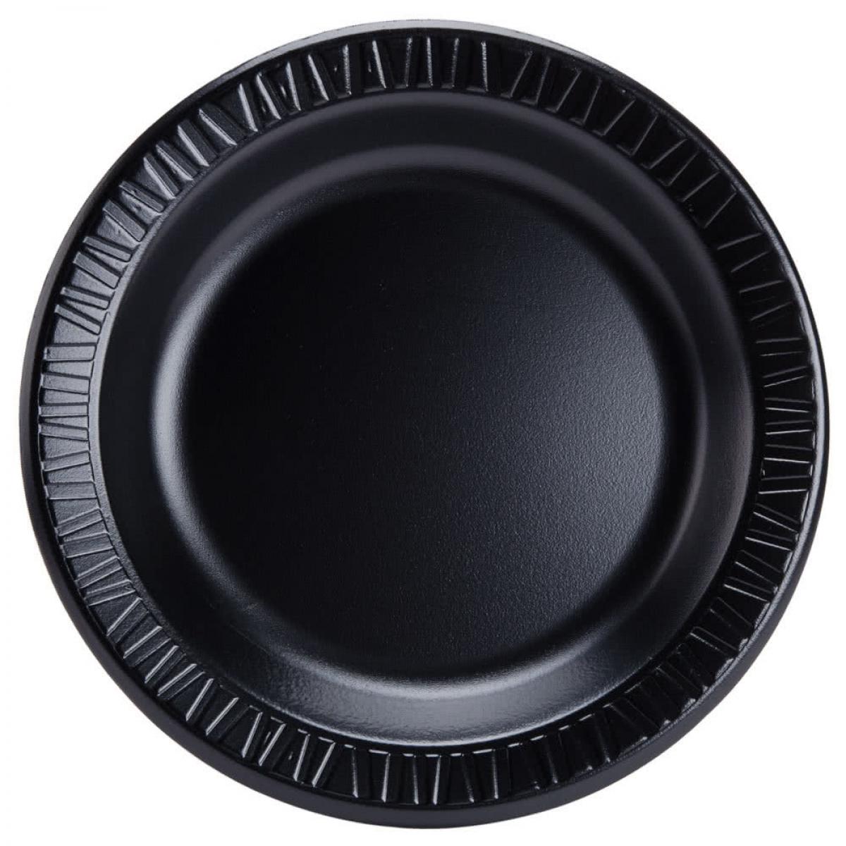 foam plate (black) 7 inch
