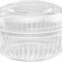 clear round hinged container  93*65