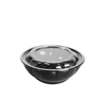 round black bottom container with clear lid