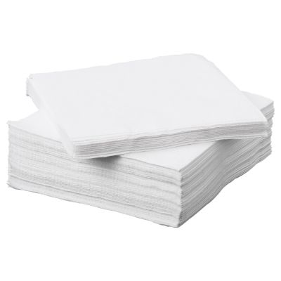 plain white napkin
