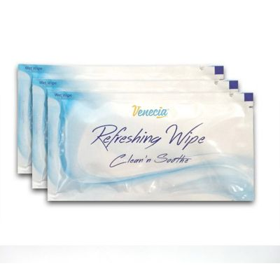 refreshing wet wipe