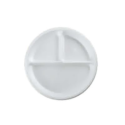 Round plastic plate 3 sections