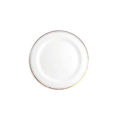 Round plate with ring (golden)