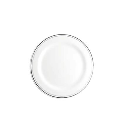 round plate with ring (silver)
