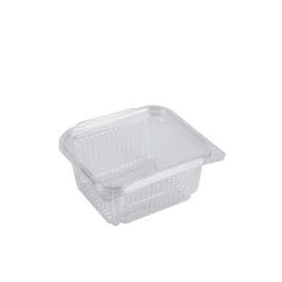 clear hinged container